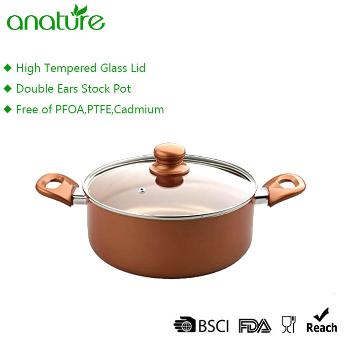 Cheap 7pcs Copper Nonstick Cookware Set