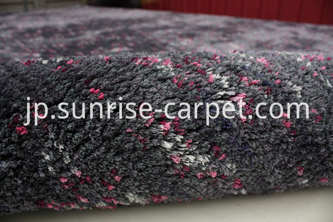 Floor carpet rug for home decoraion grey with rose color