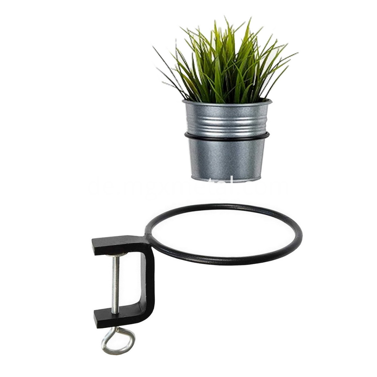 Metal Clamp Flower Pot