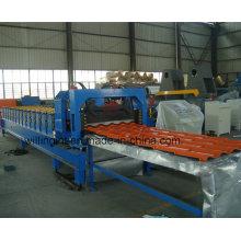 Máquina perfiladora de paneles de pared de azulejos de acero esmaltado con servomotor