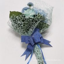 Weddings Decoration roll packing Flower wrapping material Spider mesh fabric