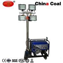 Напольный мобильный генератор Бензиновый светодиодное освещение Башня