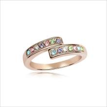 VAGULA красочные Rhinestone моды золотые ювелирные изделия кольца