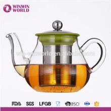 Hot Selling Useful Promotional Gift Customized Heat Resistant Borosilicate Glass Teapot Infuser