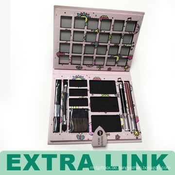 Fashional Square Papier Lidschatten Box Frames Großhandel mit Metallknopf