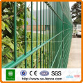 Powder coated double wire mesh fence