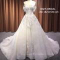 Elfenbein eine Linie Hochzeitskleid mit nacktem Futter Spitze Korsett Mieder Tüll Rock Strand einfache elegante Brautkleider 2018