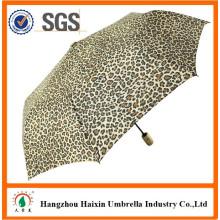 Leopard Design Animal guarda-chuva automático
