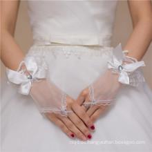Fingerlose Spitze appliques Bowknotqualitätsspitzedekorationhochzeitsspitzehandschuh