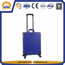 PVC Surface Travel Trolley Beauty Case with Mirror