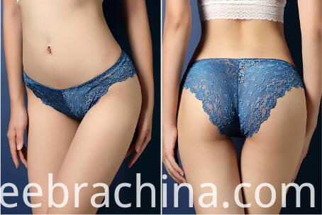 women lace underwear blue