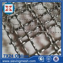 Vários tipos de malha de aço inoxidável frisado