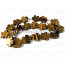 Perles tigereye en forme de fleur