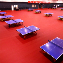 Certification de ITTF de plancher de sports de PVC de tennis de table