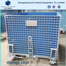 Gaiola de armazenamento de paletes de caixa de malha de armazém logística