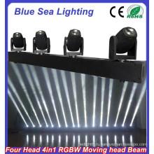 4pcs x 10W RGBW 4in1 привели луч света