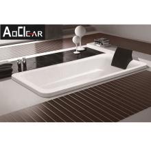 Aokeliya acrylic whirlpool drop in bathtub with pillow for sale deep soaking bathtub for sale