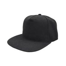 wholesale cheap blank custom 5 panel acrylic black flat brim snapback cap