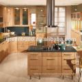 Oak Wood Apartment Kitchen Cabinet