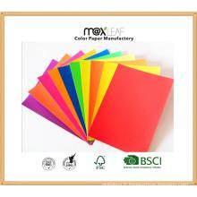 Panneau en papier couleur (185GSM - 5 couleurs vives mélangées)