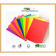 Placa de papel colorido (185GSM - 5 cores brilhantes misturadas)