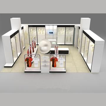 Fashion Exhibition Showroom Wood Display Stand