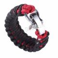 Safty Überleben Armband verstellbaren Edelstahl Schraube Pin Paracord Schäkel