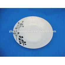 Cheap porcelain soup plate with black design