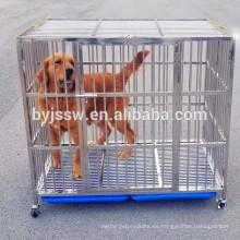 Jaula para perros con barra de acero inoxidable, caja para perros, jaula para mascotas con rejilla de plástico