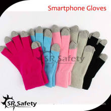SRSAFETY high quality acrylic touch screen gloves fashion unisex warm phone gloves