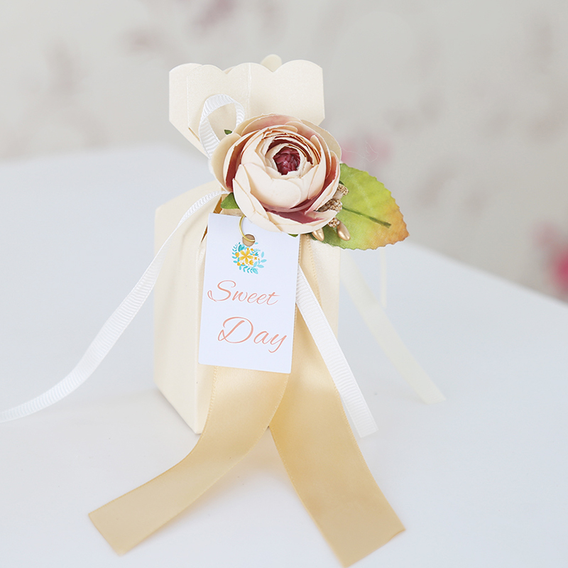 Small color wedding candy boxes