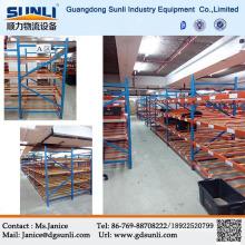China Supplier Carton Gravity Flow Storage Warehouse Mobile Rack