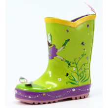 Children's Butterfly Designed Rubber Rain Boots
