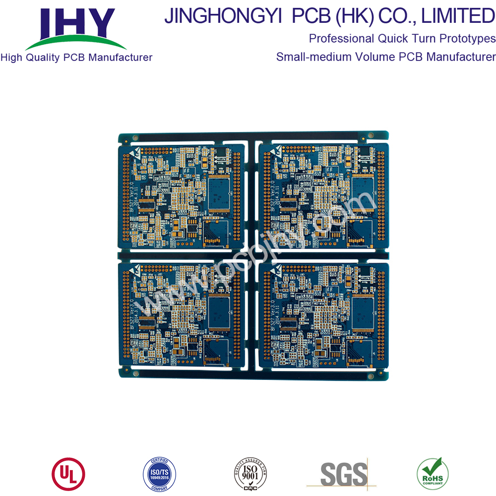 Blue FR4 1.6mm Immersion Gold 8L PCB