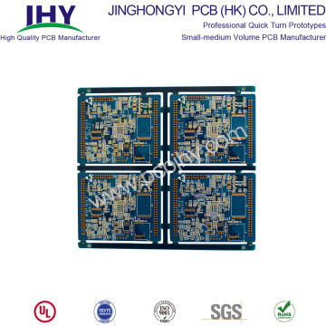 Immersione PCB 8 strati Gold Blue FR4