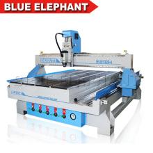 China Elefante azul Cnc router 1325 melhor preço de 4 eixos cnc router máquina de escultura em madeira com rotativo