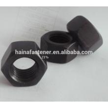 Stainless Steel Black Hexagonal Nut M10,S316