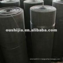 Un tissu matériel en vinyle noir de bonne qualité (directement de l'usine)