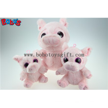 Neuer Design Plüsch gefüllte rosa Schwein Spielzeug mit großen Augen Bos1168