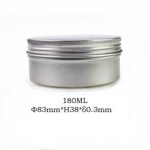 Frasco de alumínio 180ml Jar Jar natural para embalagem de cosméticos