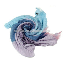 Ladies polyester ruffle scarf