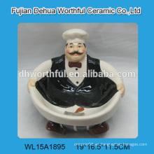 Tazón de cerámica creativa en forma de chef de alta calidad