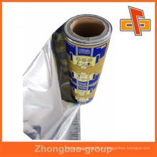 Alta qualidade impresso saquinho embalagem laminação filme rolos em guangzhou