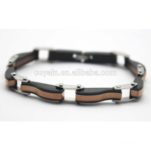 316L stainless steel Black and Antique gold plated chain link bracelets