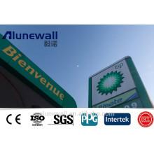 Matériau de construction avancé FEVE / PVDF / PE Revêtement Alucobond Prix Aluminium Composite Panel