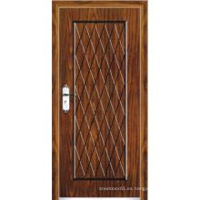 Puerta blindada de madera de acero estilo turco (LTK-A501)
