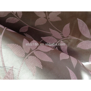 2016 new arrival 100% Polyester Large Jacquard Leaf waves design Blackout fabric for Window