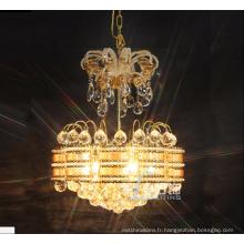 Les lumières pendantes en cristal de lustre de la taille K9 de conception simple s'allument avec le prix usine