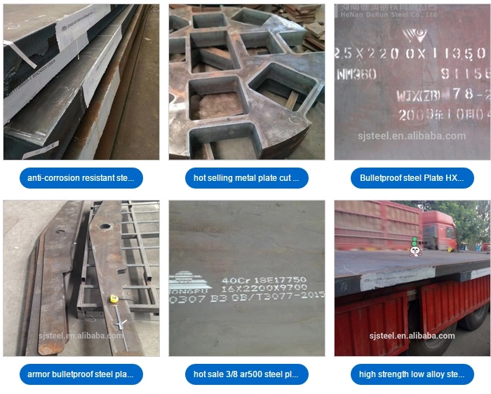 Steel plate blanking and bending