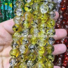 Bead Landing grosso / artesanal solta grânulos / Crystal Crackle Beads para jóias